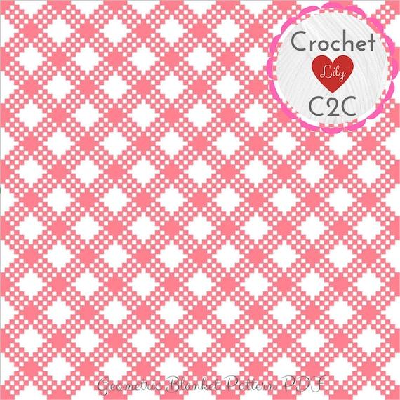 Geometric blanket - C2C crochet pattern blanket - Crochet graph - Crochet  pattern - Crochet blanket - C2C blanket - C2C pattern - C2C baby