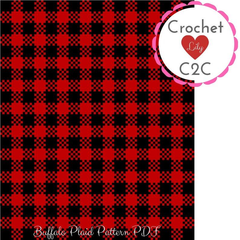 Buffalo plaid - C2C crochet pattern - C2C blanket - C2C afghan - Corner to  corner - Buffalo crochet - Plaid pattern - Red and black plaid