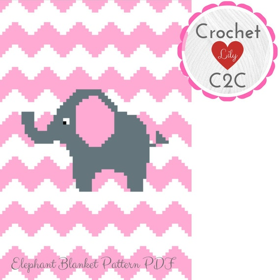 Filet Elephant Blanket Crochet Pattern | Häkelelefanten muster ... | 570x570