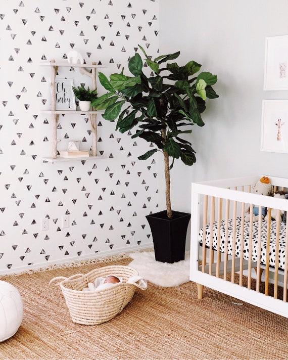 Watercolor Triangle Removable Wallpaper Nursery Wallpaper
