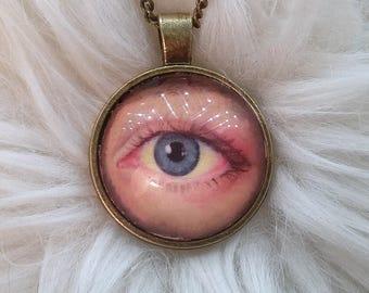 Lover's Eye Custom Pendant/Portrait - Personalized Jewelry, Romantic Jewelry, Memorial,  Sentimental, Romantic Gift, Mother's Gift