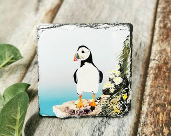 Set of four placemats Tableware Dining Puffins Puffin placemat set Puffin gifts Puffin placemat Happy new home Cute puffin