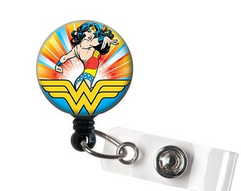 Wonder Woman Inspired Retractable ID Badge Reel - Alligator Swivel Clip ID  Badge Holder Teacher Nurse Badge Clips - Best Gift Idea 25ea44ce45
