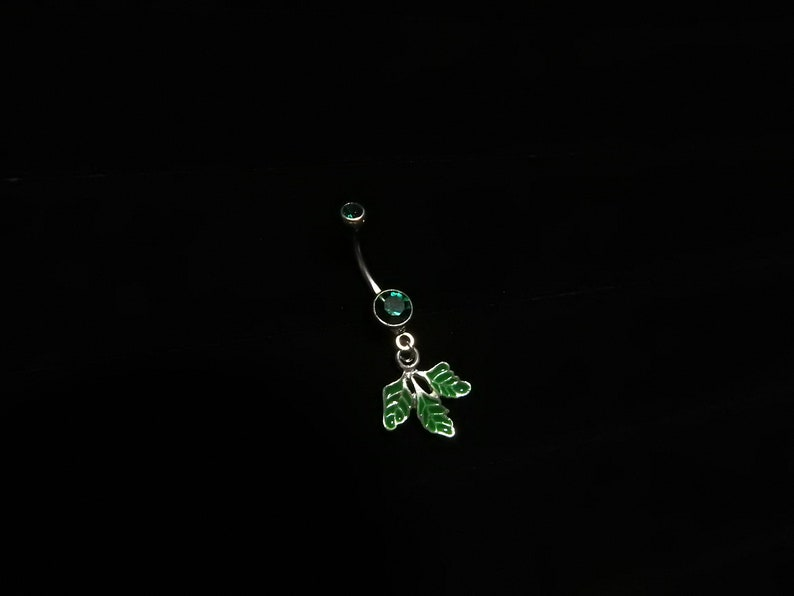 Green Poison Ivy Leaf Belly Navel Ring Dc Comics Batman Body Jewelry Costume Accessory