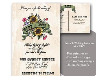 custom woodland wedding invitation with rsvp woodsy wedding etsy