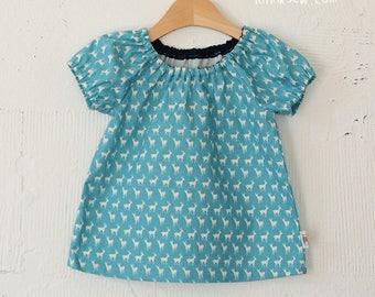 Ella Raglan Blouse Pattern (6 - 24 months) PDF Sewing Pattern (#260)