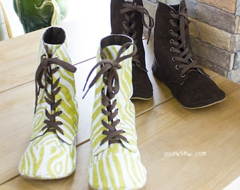 Adler Women's Combat Boots PDF Sewing Pattern