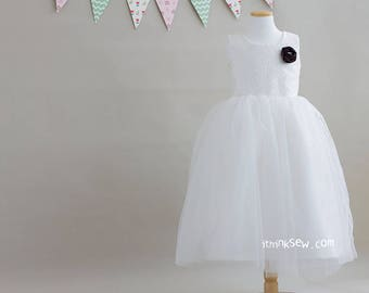 Lucille Flower Girl Dress (3Y ~ 11Y) PDF Sewing Pattern (#1080)