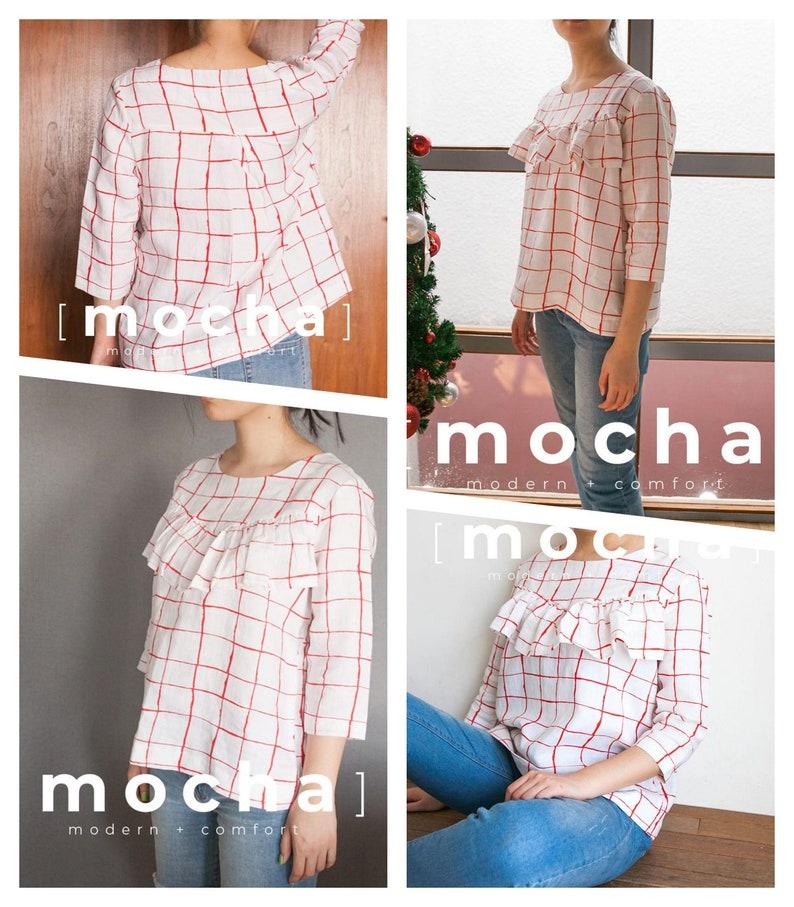MOCHA Cara Blouse PDF Sewing Pattern