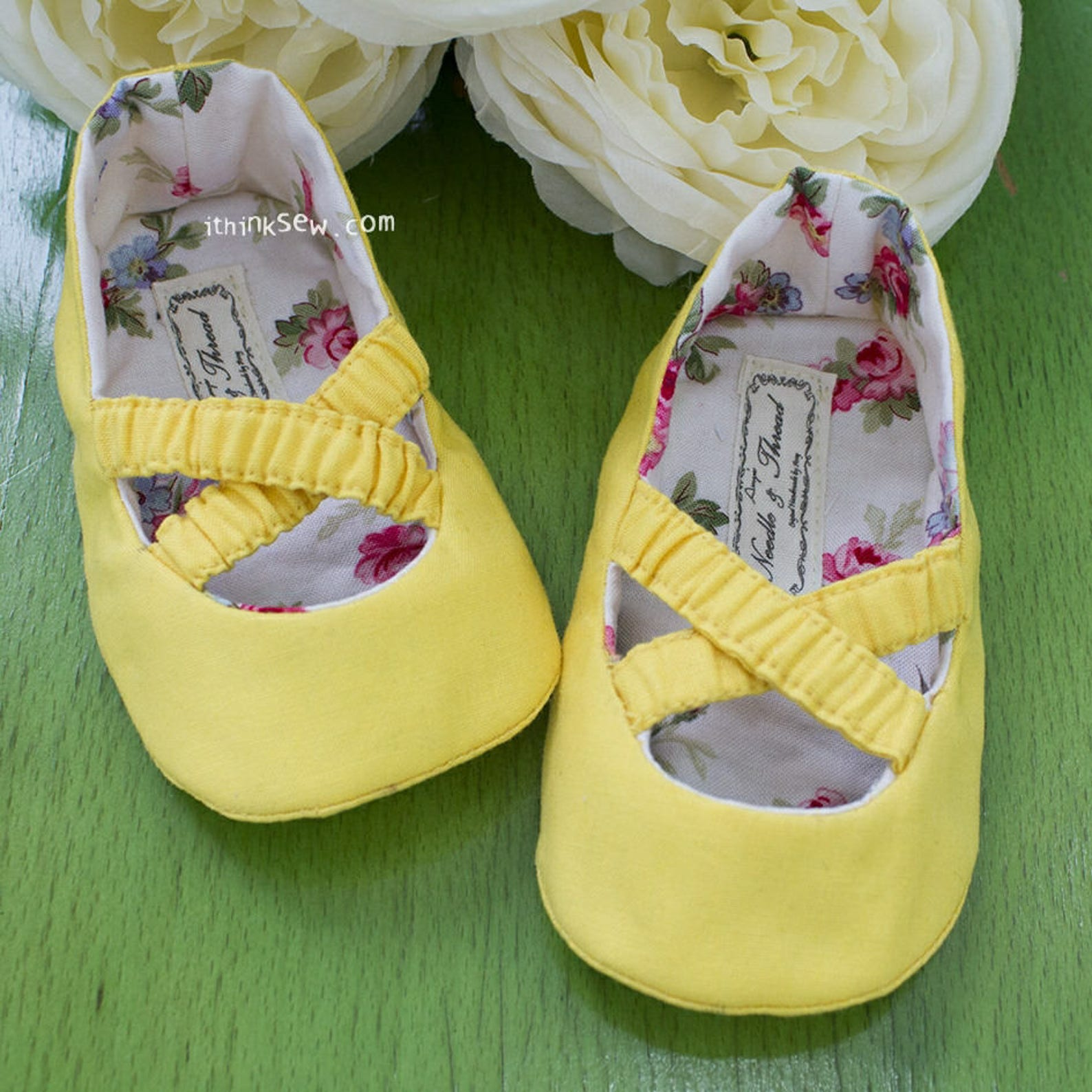 baby ballet shoes pdf sewing pattern (#583)