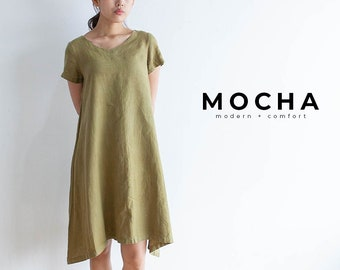 """MOCHA 2 Styles Muriel Tunic and Dress PDF Sewing Pattern - 4 Kinds of Paper(A4, US Letter, A0, 36""""x48"""")"""