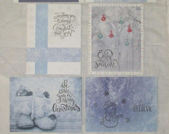 Snowy Christmas Cards, Homemade Holiday Greeting Cards, set of 6