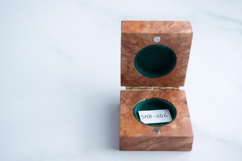 Handmade unique wooden ring box Wedding Ring Box Wood Ring Box Engagement Ring Box Maple Burl Rustic Ring Box