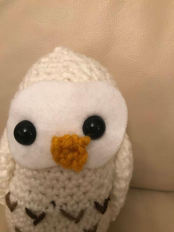 Crochet Barn Owl Pattern (PDF)   Owl patterns, Barn owl, Crochet birds   760x570