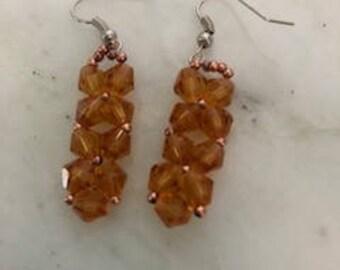 Rock Candy Pendant Earrings Honey Topaz