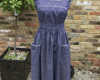 Vintage Berkertex navy day dress Size 12