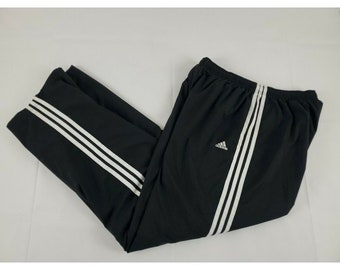 Vintage Hummel Track Pants Side Design Black White Streetwear Elastic Waist Leg Side Zip Trousers Workout Bottoms 90