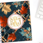 Plaid Autumn Planner Cover Personalized Monogram Erin Condren Life Planner Recollections Happy Planner A5 B6 Dashboard