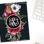 Botanical Love Monogram Valentine's Day Planner Cover Personalized Erin Condren Recollections Happy Planner A5 Personal Pocket B6 Dashboard