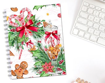 Candy Cane and Gingerbread Holiday Christmas Planner Cover Erin Condren Life Planner Recollections Dashboard