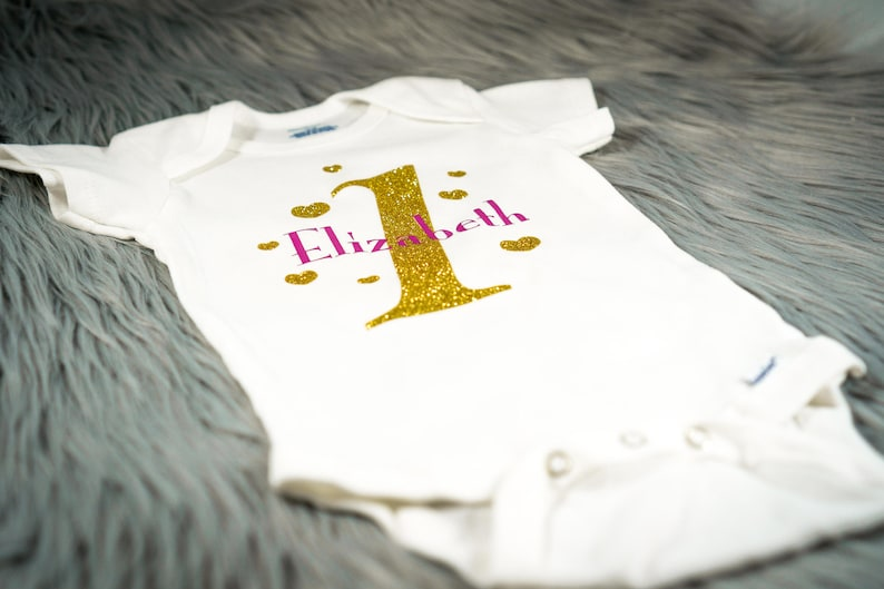 First Birthday Outfit Custom Name Baby/'s First Birthday Onesie First Birthday Gift Baby Shower Gift