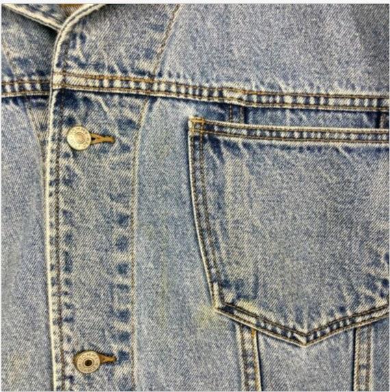 Details about Vintage Tommy Hilfiger Jeans denim jacket big flag signature logo 3XL RARE SIZE