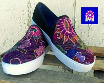 Sneakers mexican hand embroidered/tennis/ shoes embroidered/handmade/boho