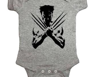 84049d947624 X-Men Wolverine Baby One Peice