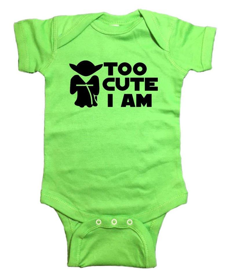 Star Wars Yoda Baby Onesie Too Cute I Am Bodysuit   Etsy