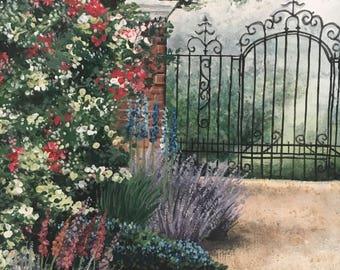 Original Garden Painting