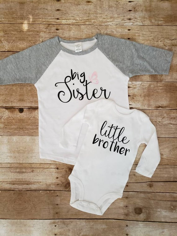 sibling shirts big sister little brother shirts baby shirts