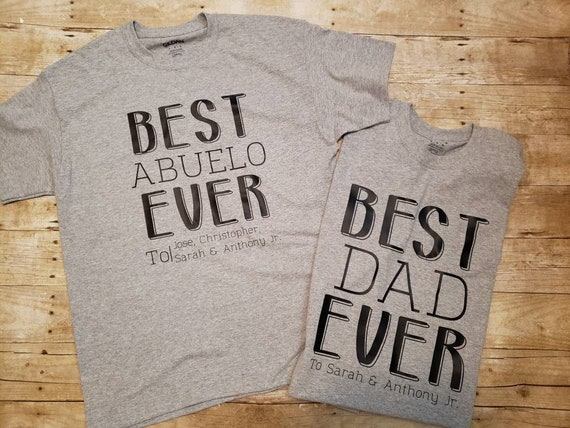 T-Shirt gift grandpa-Best abuelo ever shirt-Father/'s Day gift-Christmas shirt