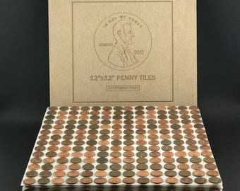 tile sheets of us copper pennies penny floor and backsplash tiles 12x12 free shipping - Penny Backsplash Model