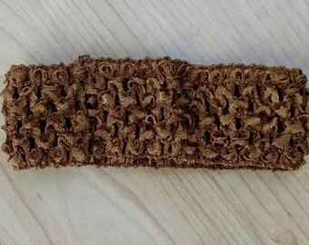 Brown Baby Headband, DIY Headband, Stretchy Headband, Tan Headband, Crochet Headband, Baby Headband, Hairbow Headband, Brown Headband