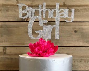 Birthday Girl Cake Topper, Birthday Girl, Cake Topper