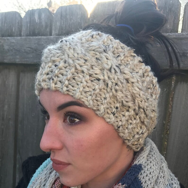 Women Teen Wide Knit Headband Ear Warmer