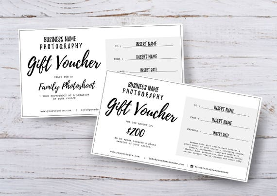 Photography Gift Voucher Certificate Template Psd For
