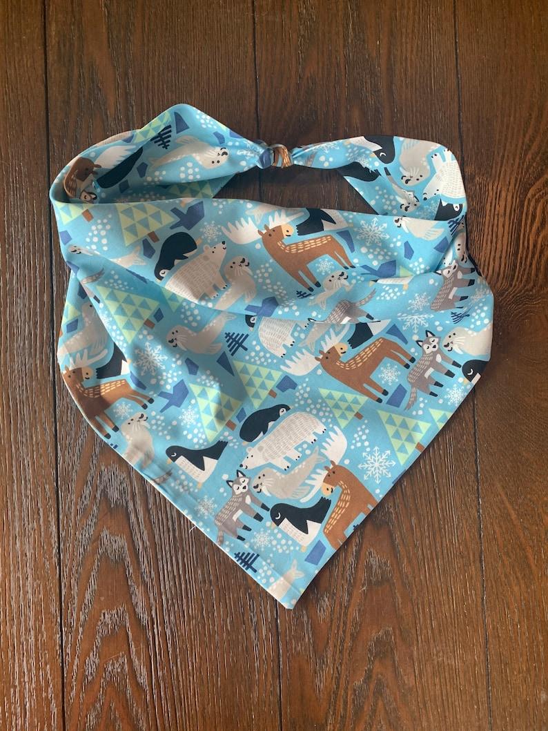 Tie On Dog Bandana Arctic Animals