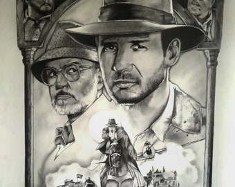 Indiana Jones A2 drawing