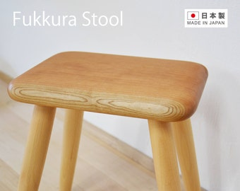 Wood Stool Japanese Cherry, Wooden Stool, Handmade Chair, Folding Stool,  Modern Stool, Small Stool, Bedroom Stool, Housewarming Gift