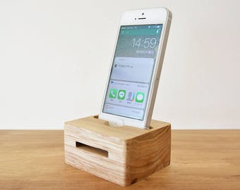 iPhone Speaker, Free Shipping, iPhone Stand Wood, Phone Amplifier, iPhone Docking, Housewarming gift