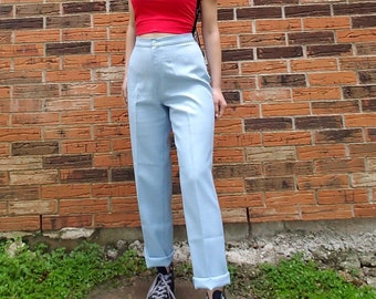 cd554e1510d39 Vintage 70 s or 60 s Levi s baby blue trousers from the