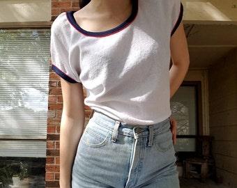 Vintage 1970s white terrycloth shirt