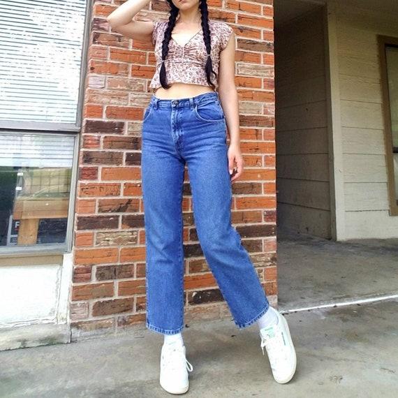 Vintage 90's straight leg high waisted jeans