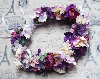 Lux Purple Flower Crown