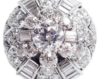 Diamond Platinum Dome Ring