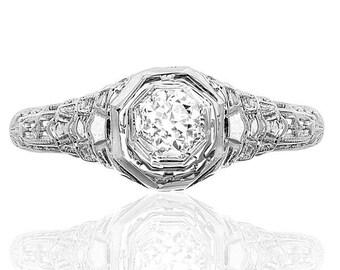 Love me Do... Original Art Deco Engagement ring