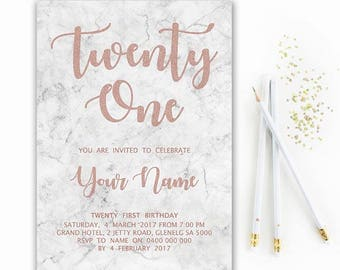 21st invitation Etsy