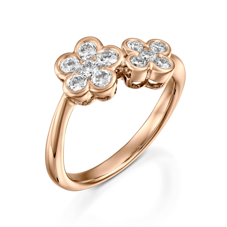 Wedding Rings Flowers: Cherry Blossom Ring Diamond Flower Engagement Ring Rose