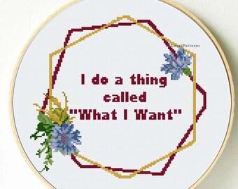 Funny cross stitch pattern Sarcastic sassy cross stitch | Etsy